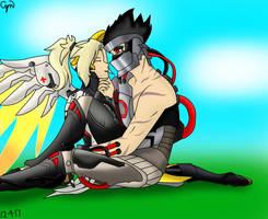 Genji X Mercy by CynthiaLyn