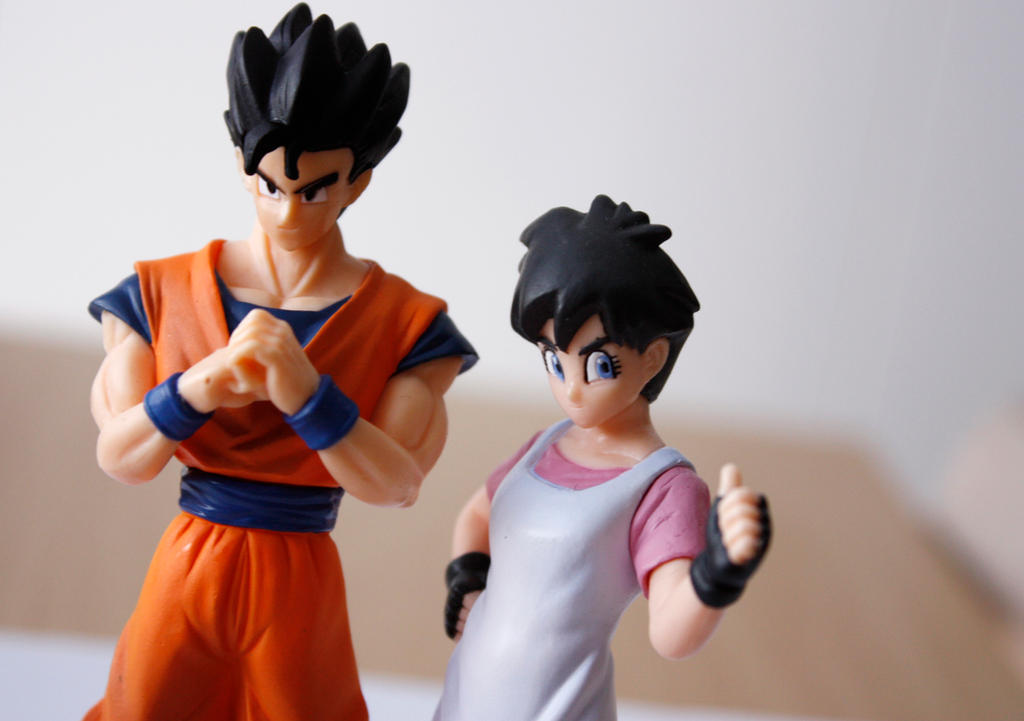 Son Gohan and Videl by Roxi-art