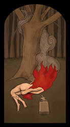 Burning Body in the Forest by FerdinandBardamu