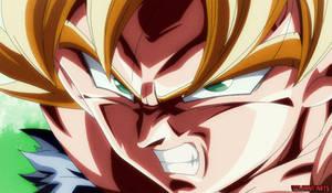 Furious Surface, Super Saiyan Son Goku by GojiranArts