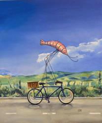 Camaron en bicicleta