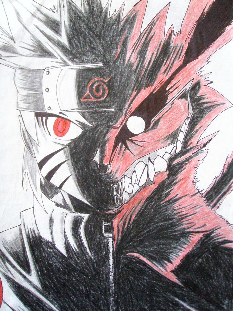 Naruto/Kyuubi by werewolf-MT