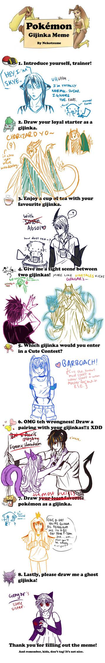 Pokemon Gijinka Meme by Nekotsume