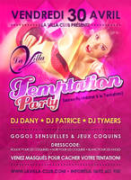 Flyer - Temptation Party by TikO974