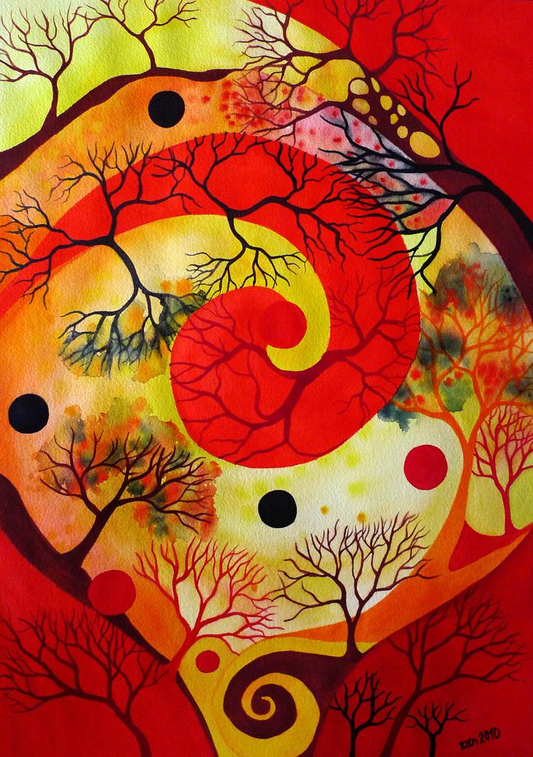 Red Spiral 2 by zzen