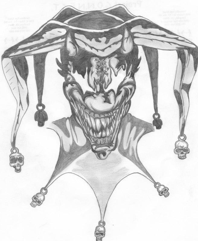 Wicked Jester Sketch by DravynDark on DeviantArt