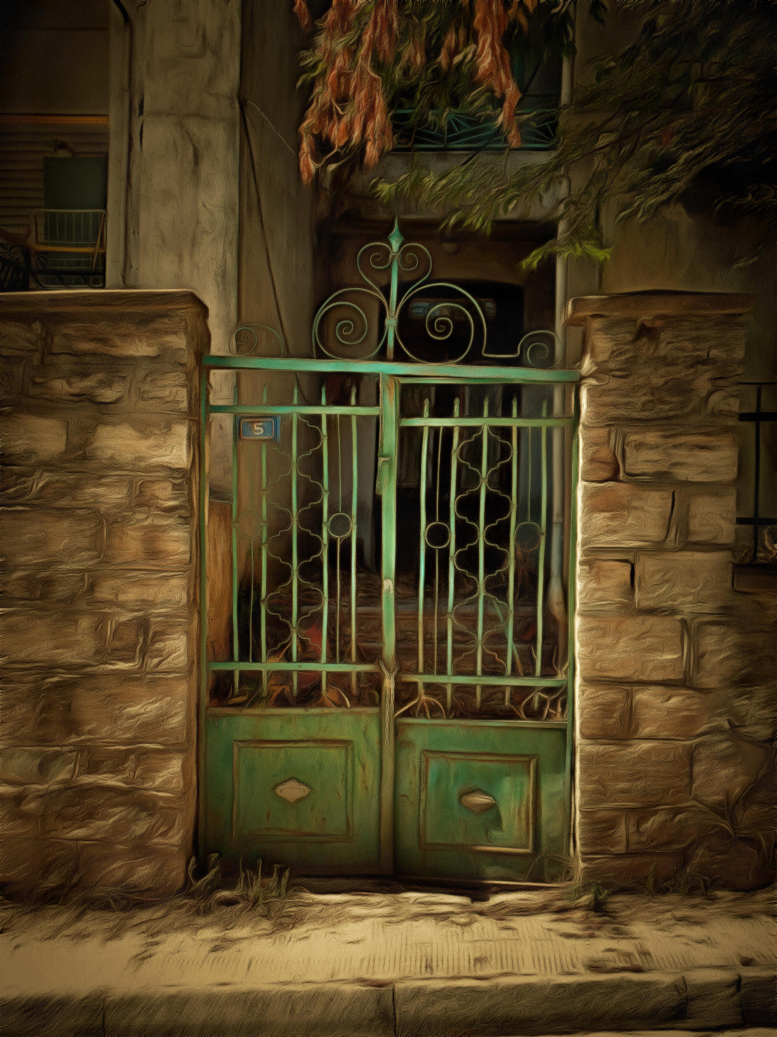 Old House Doors Art 2 by WishmasterG13