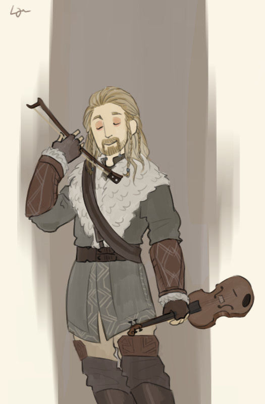 The Hobbit - Fiddle Man by Algrenion
