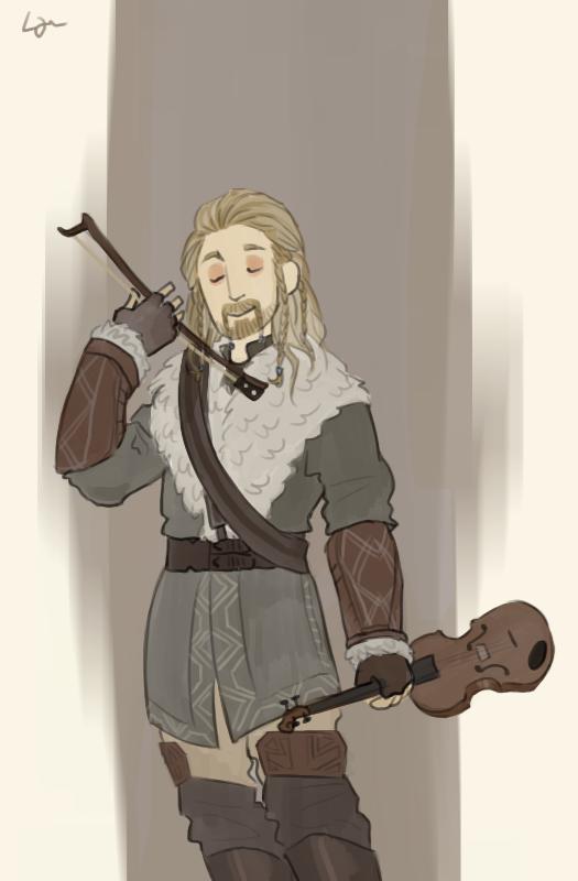 The Hobbit - Fiddle Man by Algrenion
