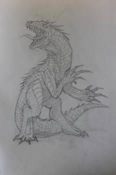 Kaiju design sketch 2: Ladon