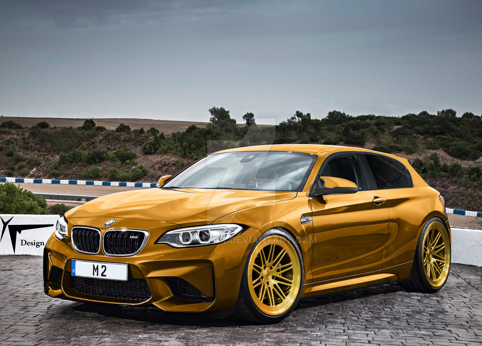 bmw f87 m2 shooting break gold by momoyak design by momoyak on deviantart. Black Bedroom Furniture Sets. Home Design Ideas