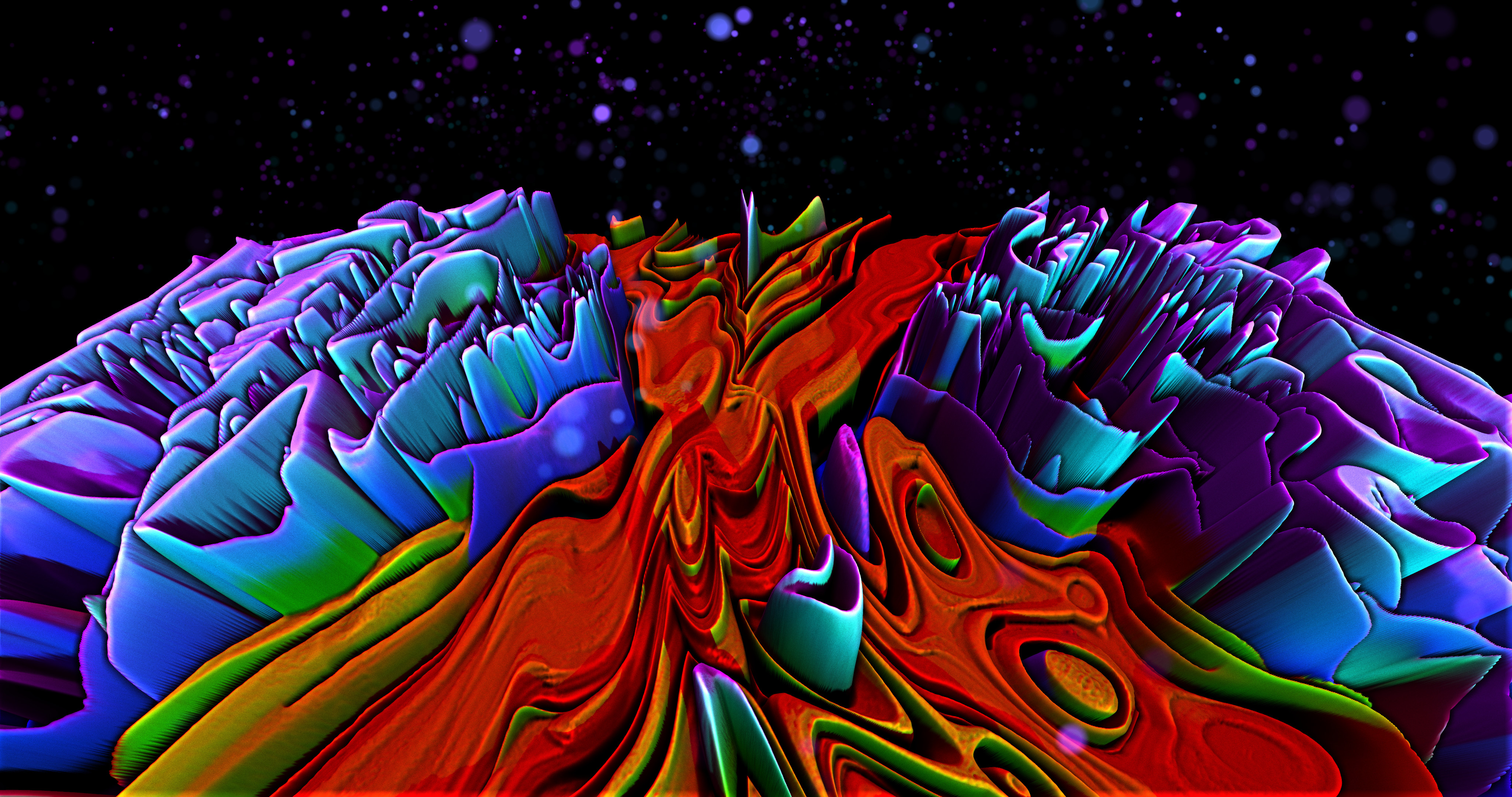 free rainbow lava 4k wallpaper by xxstryverxx on deviantart