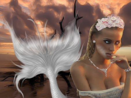 White Mermaid Done by FeatherlyWingZ by FeatherlyWingZ