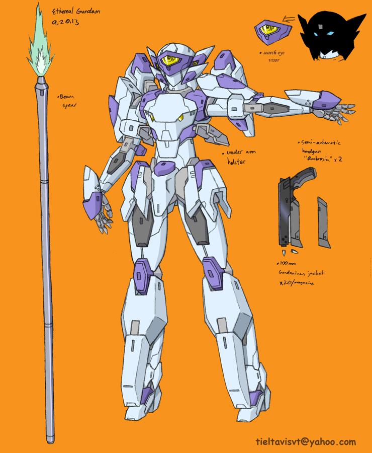 Ethereal Gundam profile - Codename: Hummingbird by Seraphiczero