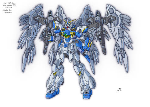 GW:TS Wing Gundam HYC (wing binders open)