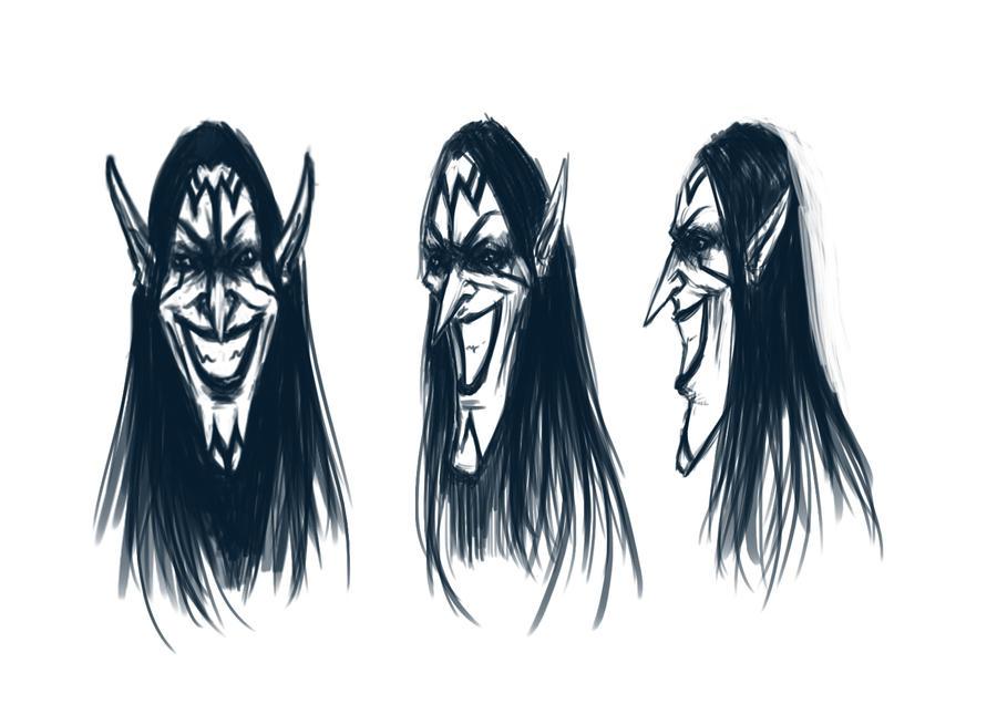 Maleficent Face by KCanArt on DeviantArt