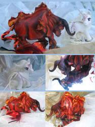 Custom Red bull and Unicorn by sugaroverload