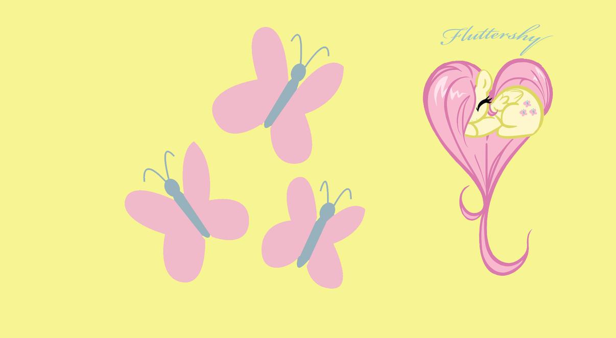 Fluttershy Heart Wallpaper by Keat38