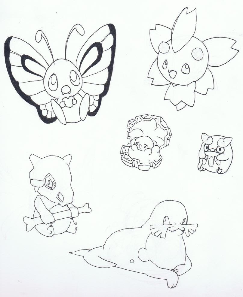 Pokemon Sketches by Ryotsu-san