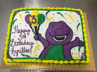 Barney Cake