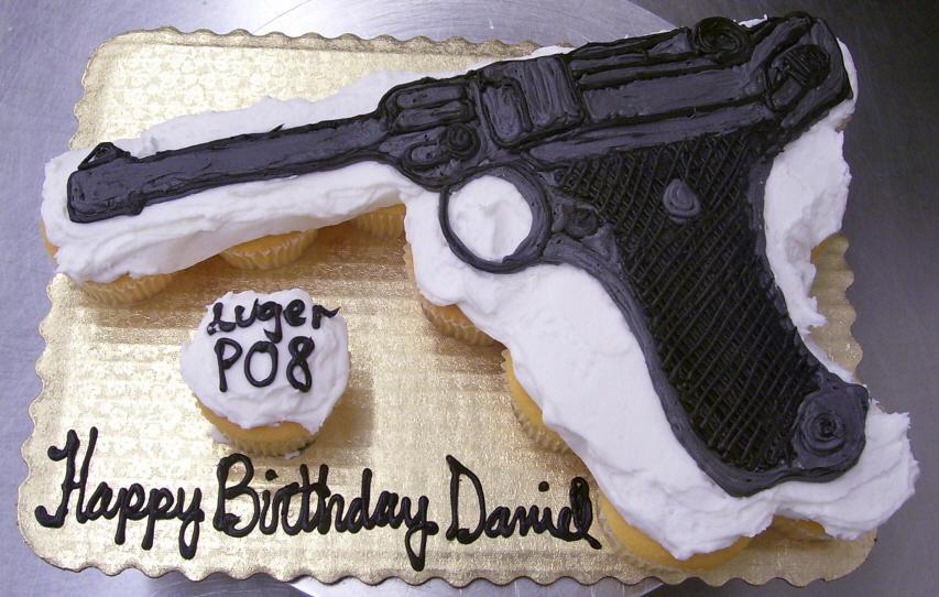 Luger P08 Cupcake Cake