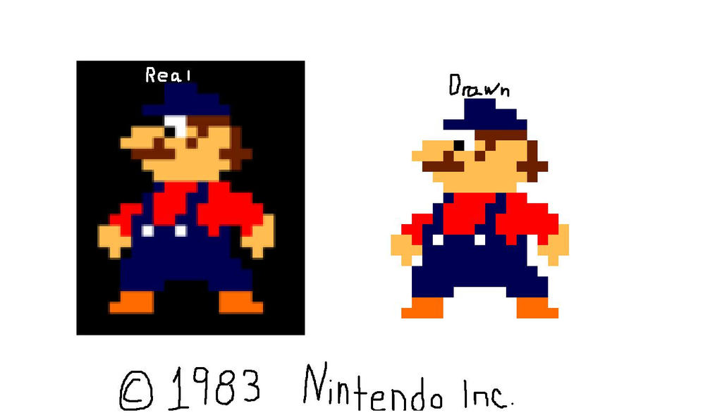 Mario (1983) redraw by DaFlame12 on DeviantArt