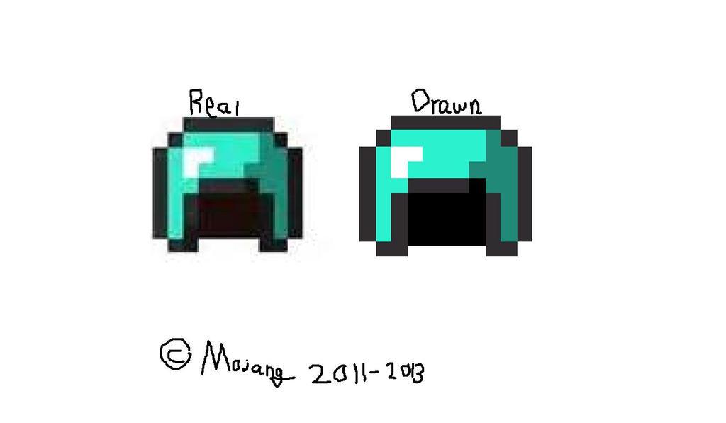 Diamond Helmet Minecraft Redraw (prize 1 Of 2) By ...