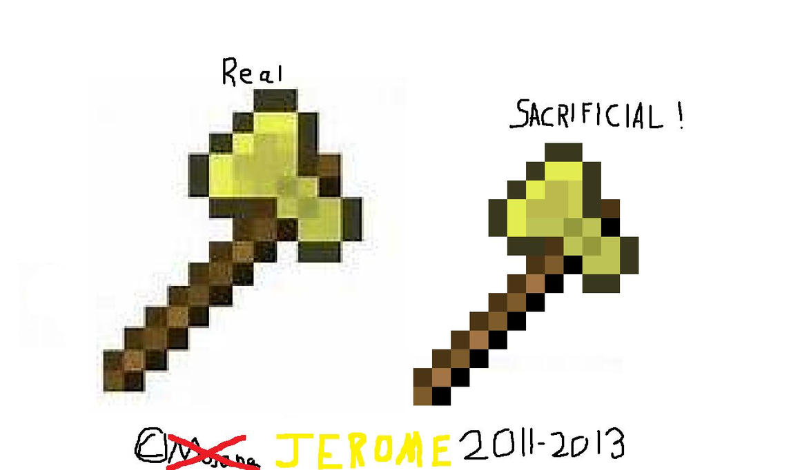 how to draw a minecraft axe