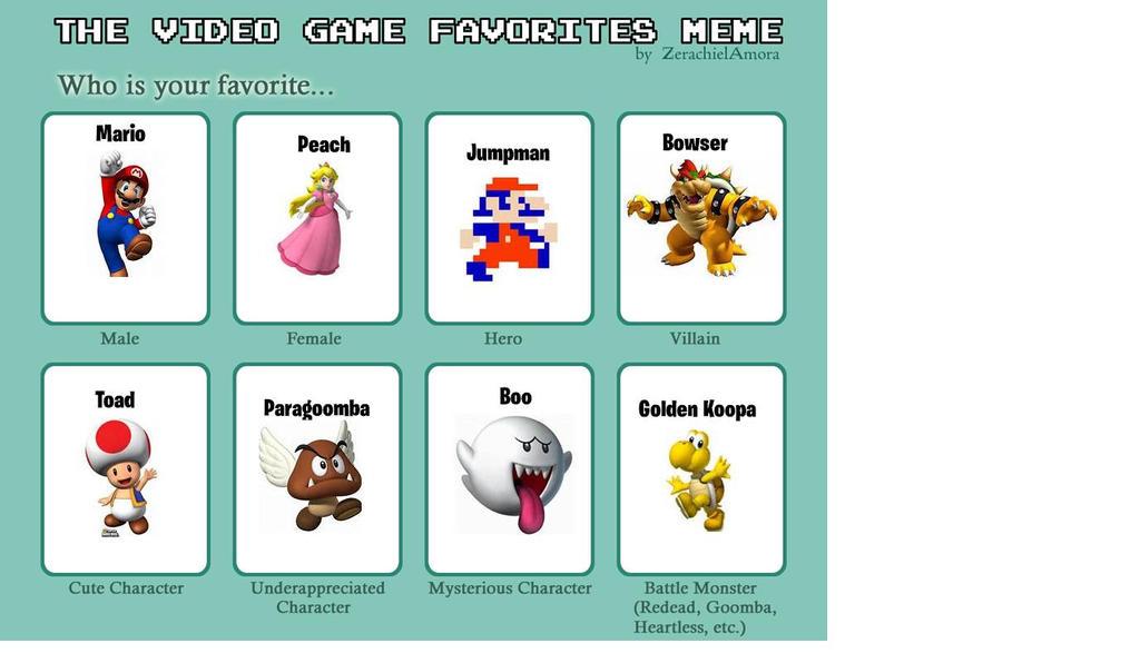 video_game_favorites_meme__filled__mario_edition__by_daflame12 d601sm6 video game favorites meme (filled) mario edition! by daflame12 on