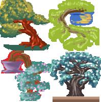 Bonsai Trees Icons Commission by Ukeaco