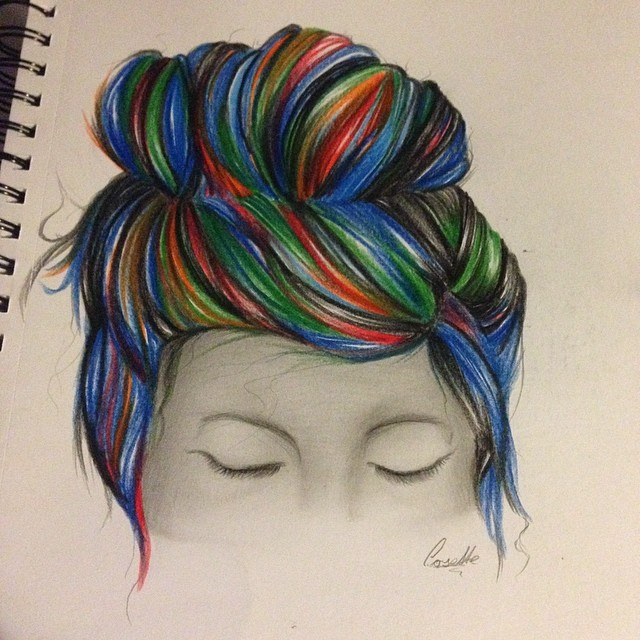 Typical Tumblr-Girl Hair Drawing by o-bliv-i-on on DeviantArt