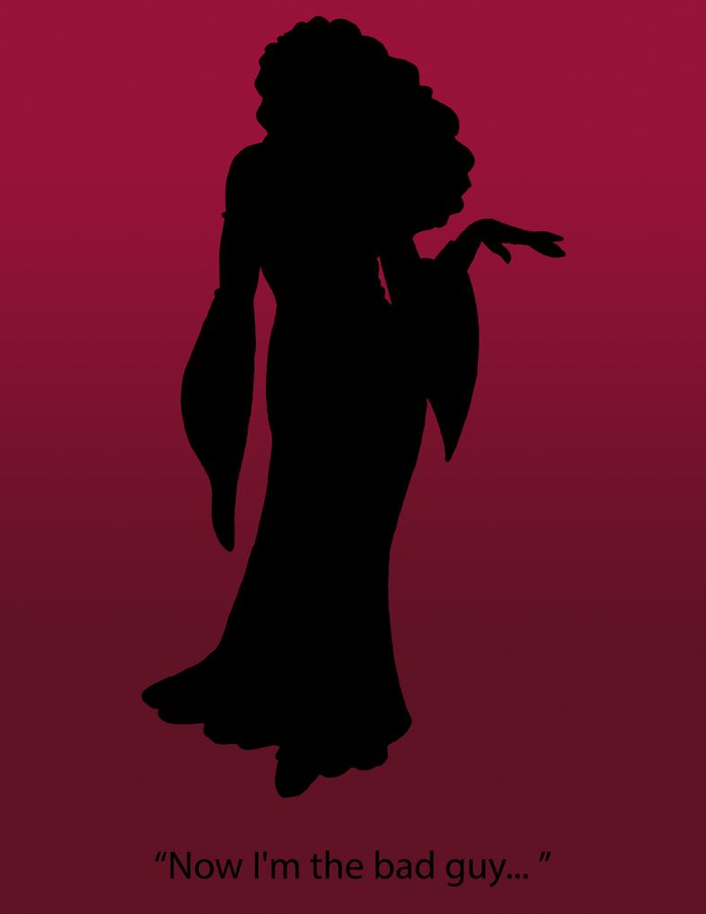 Mother Gothel Silhouette Poster by NerdyAndLovinIt
