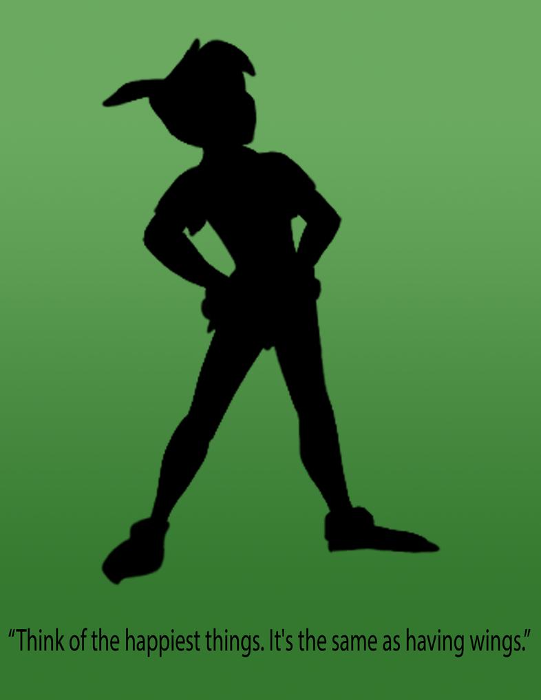 Peter Pan Silhouette Poster by NerdyAndLovinIt