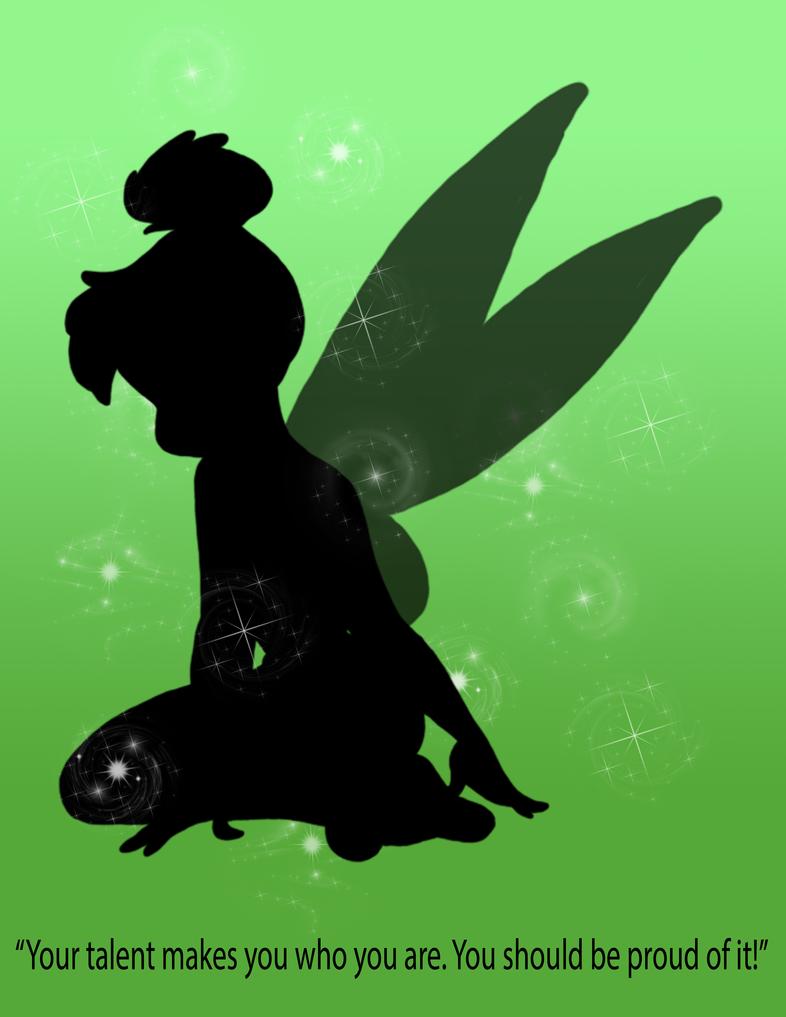 Tink Silhouette Poster by NerdyAndLovinIt