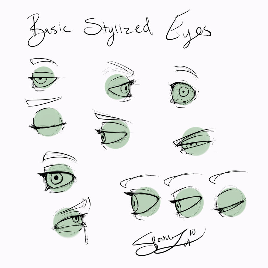 Line Art For Beginners : Stylized eyes for beginners by spoonz on deviantart