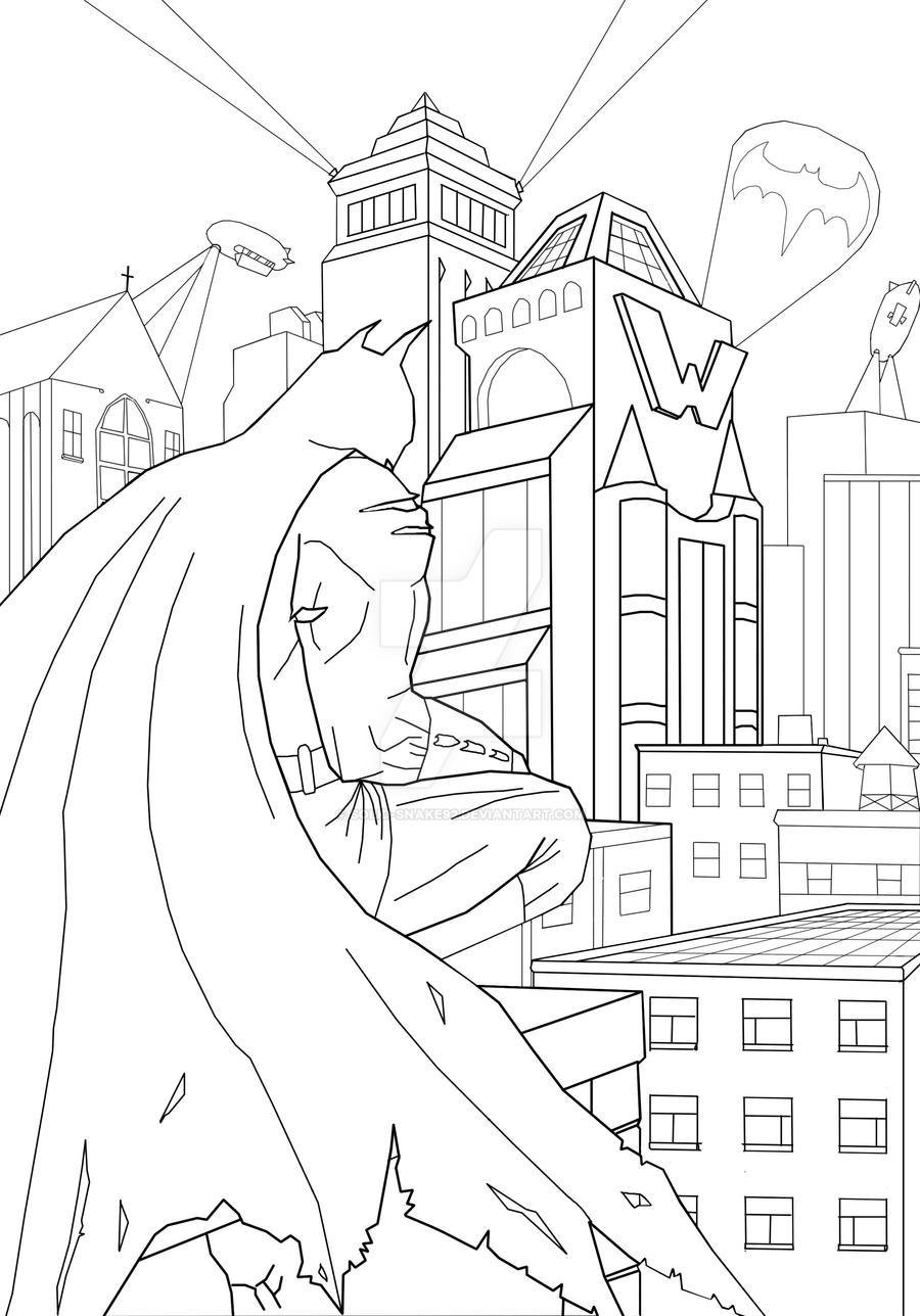 gotham city coloring pages - photo#20