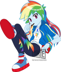 FanArt: Rainbow Dash noms Pocky - Vector