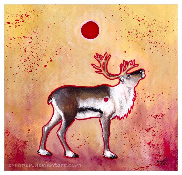 Sun deer by Zaronen