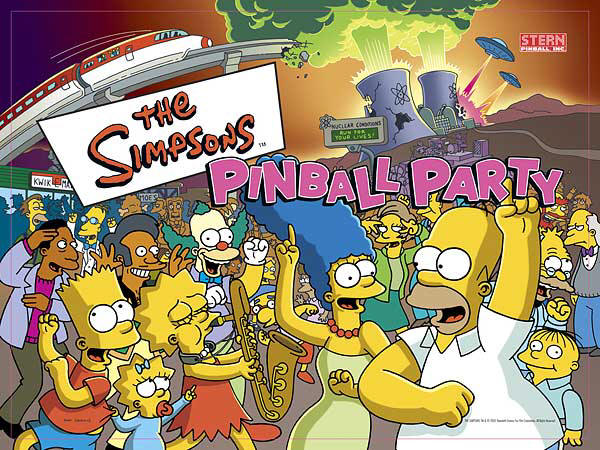 Simpsons Pin Ball Party by azmustang14