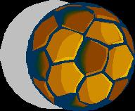 Gold Soccer Ball by azmustang14