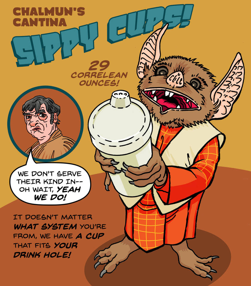 Chalmun's Cantina Sippy Cups by Gunderstorm