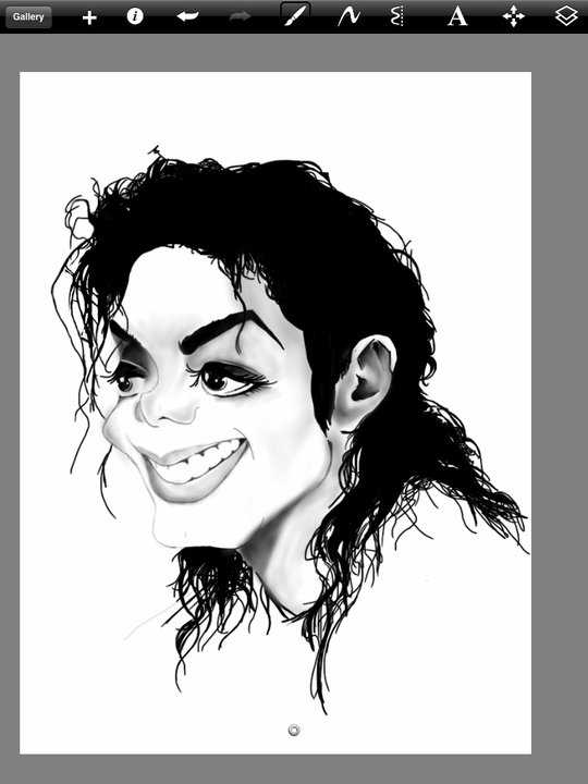 Michael Jackson Caricature Drawing by JeffreeScot
