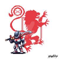 Destiny 2 Pixel Art Titan
