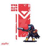 Destiny 2 Cayde-6 (and Ralph) Pixel Art