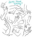 Ariel Hand Study