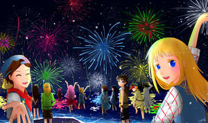 Hey, Let's Go! It's Firework Festival Time! by Cheshire-Ai