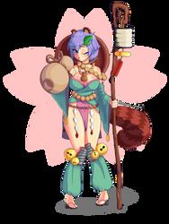 Monster Girl Danuki by Magon-Sama