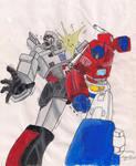 TF G1 Optimus vs. Megatron