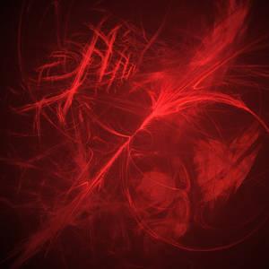 Red Flame Fractal Background
