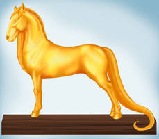 Dooxes Show Golden 1st Place Trophy